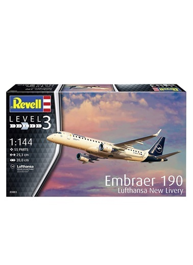 Revell  Maket Embraer 190 Lufthansa 03883 Renkli